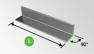 Stahlwinkel Verzinkt L-Profil 60x60x6mm Stahl Winkel Winkelstahl Winkelprofil